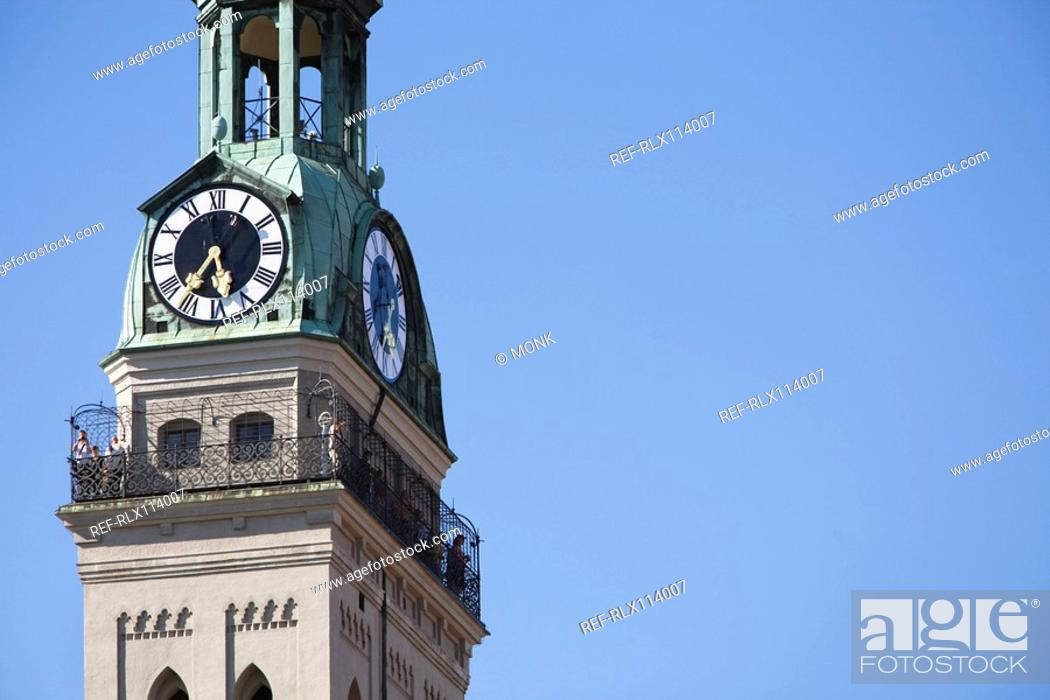 Stock Photo: ST.Peter church tower Munich, Bavaria, Germany.