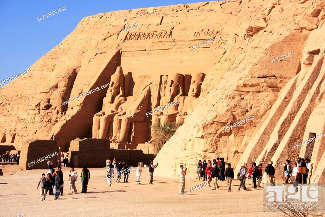 Stock Photo: The Great temple of Abu Simbel, Nubia, Egypt.