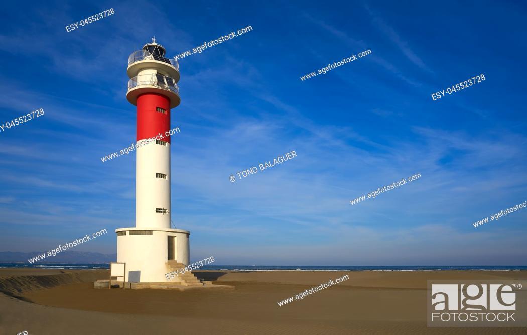 Photo de stock: Delta del Ebro Ebre beach Punta del Fangar in Tarragona Costa Dorada Deltebre.