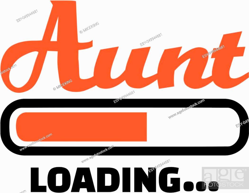 Stock Vector: Aunt loading download bar.