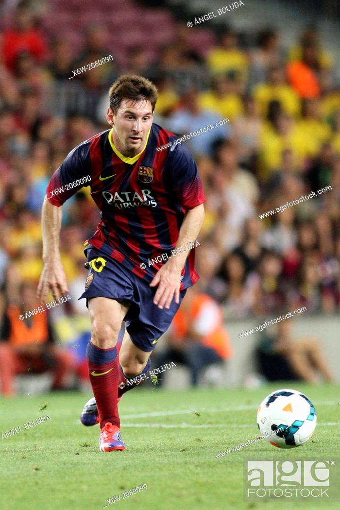 Stock Photo: FC Barcelona. Leo Messi in action.