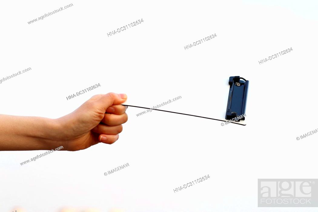 Stock Photo: Woman Hand Holding Board.