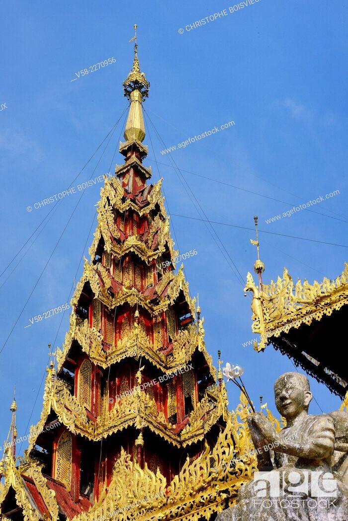 Stock Photo: Myanmar, Mon State, Go Nut village, U Na Hawt pagoda.