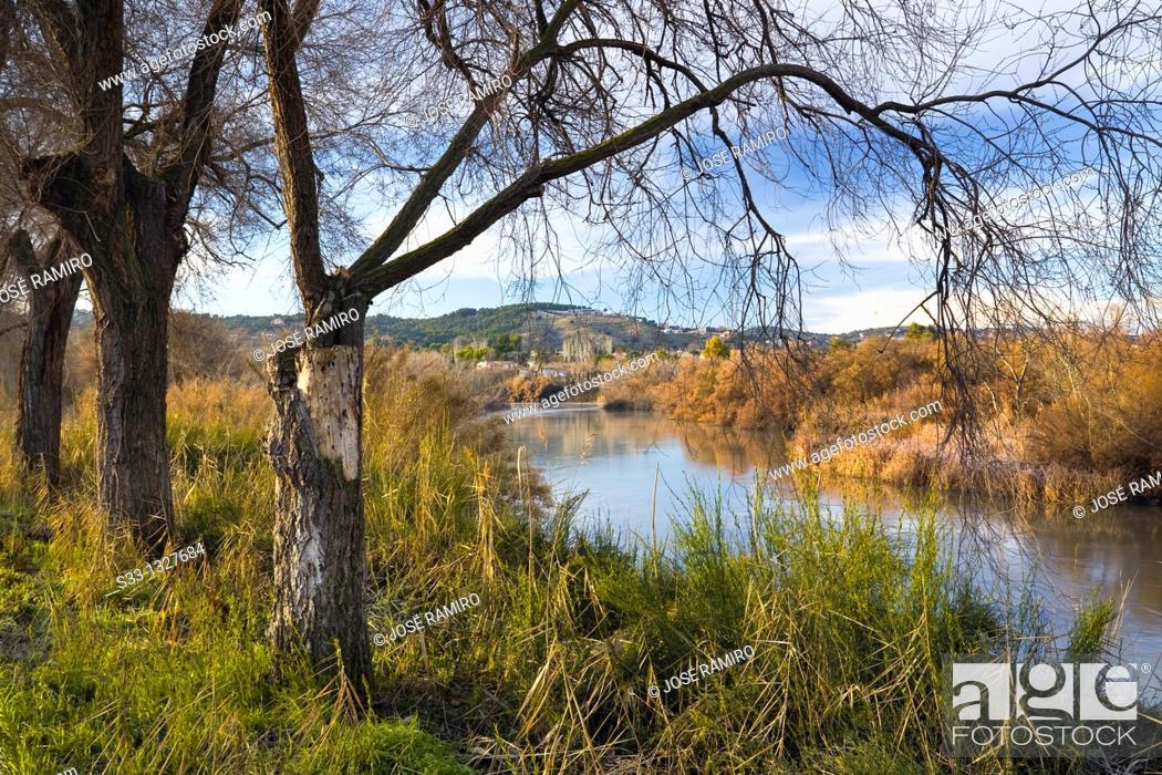 Stock Photo: Tajo river in Toledo Castilla la Mancha Spain.