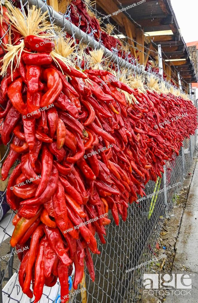 Stock Photo: Chili pepper capital of New Mexico, Hatch New Mexico.