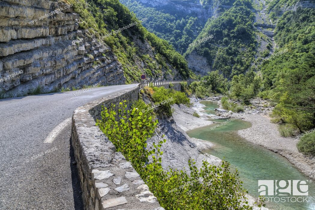 Stock Photo: Gorges de la Meouge, Drome, Provence, France.