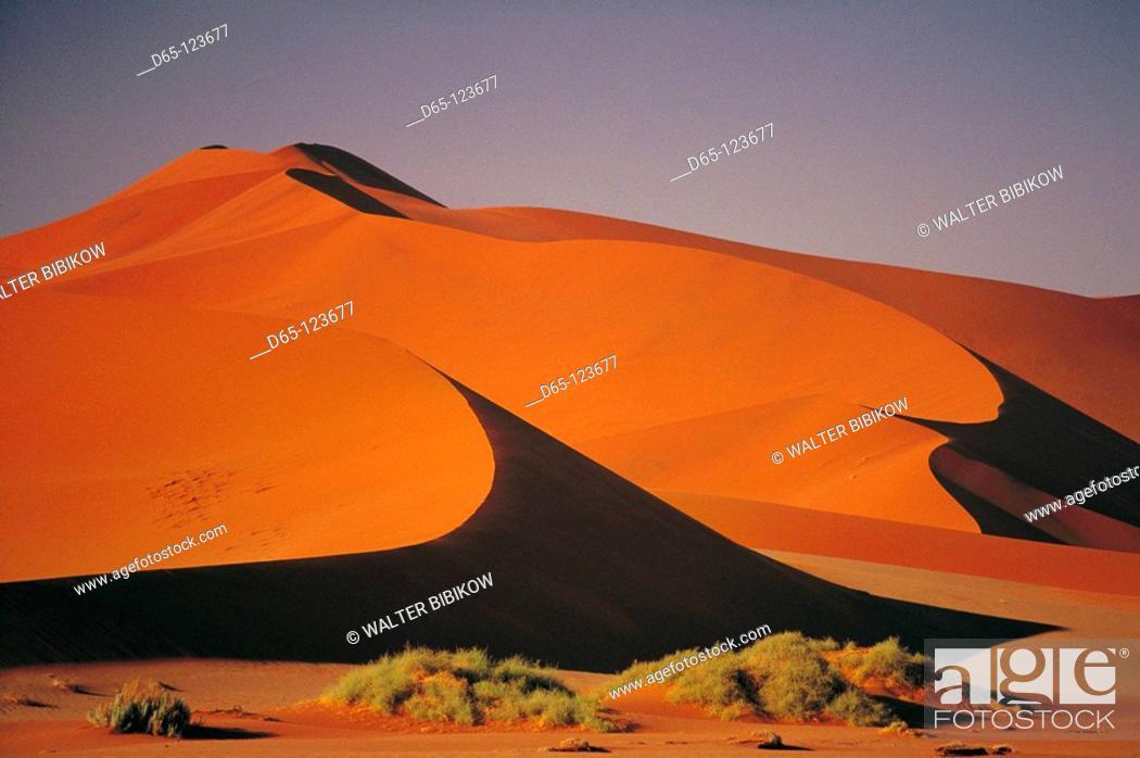 Stock Photo: Sossusvlei, Namib-Naukluft National Park. Namib desert, Namibia.