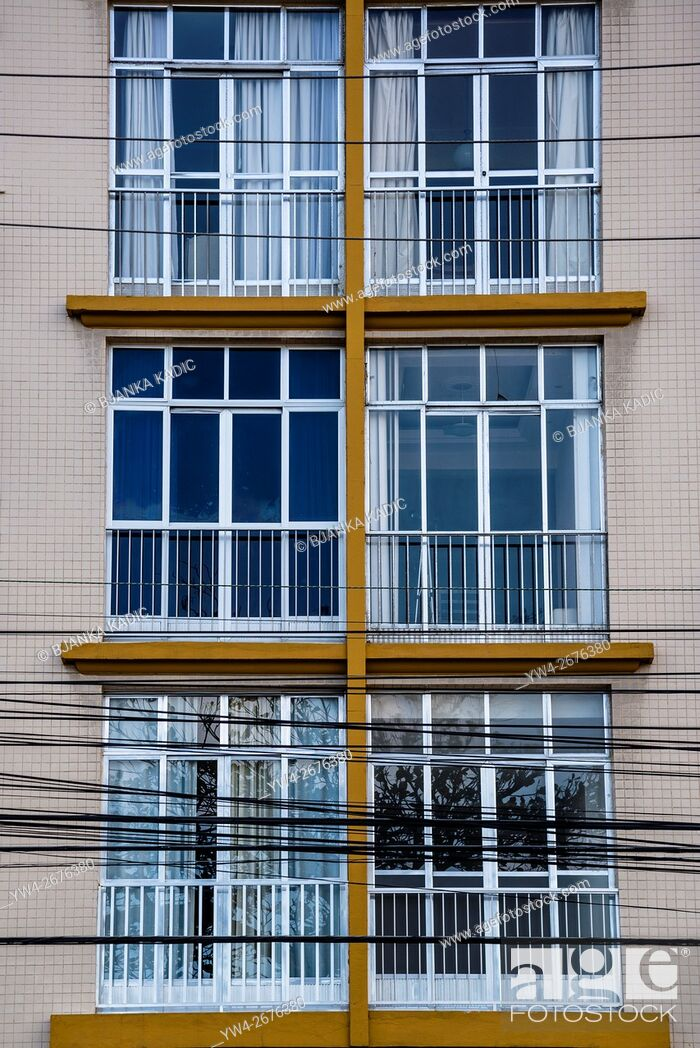 Stock Photo: Apartments windows.