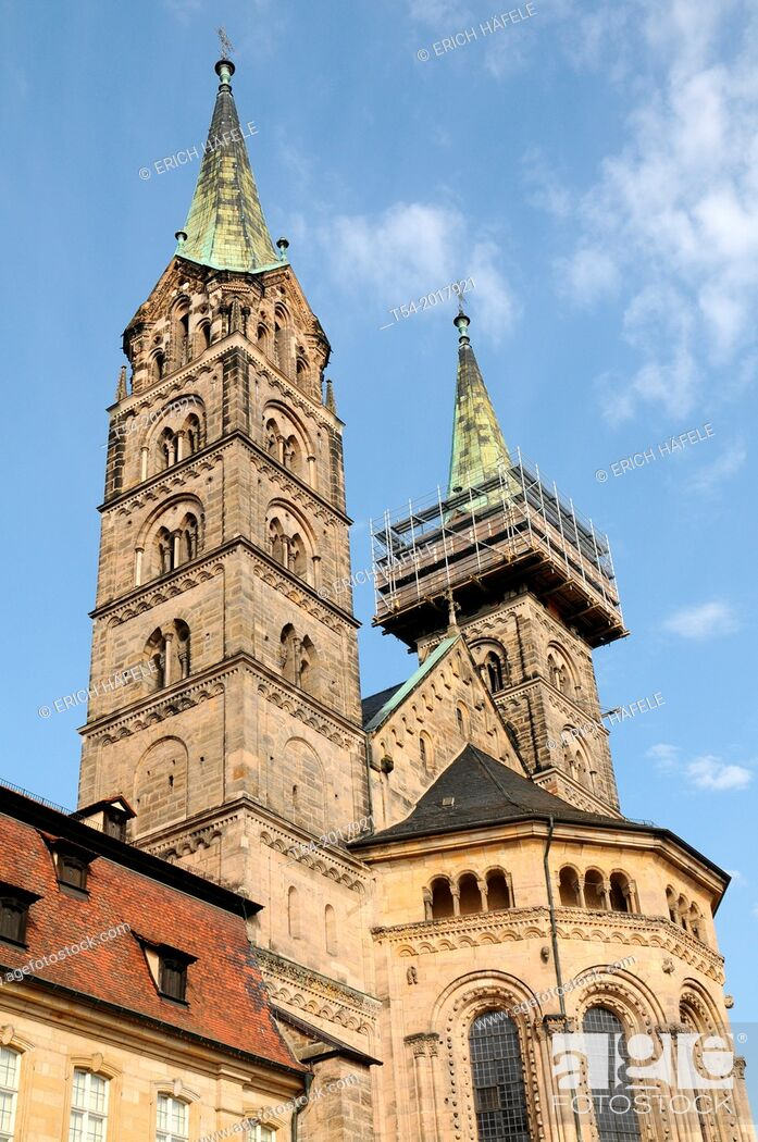 Stock Photo: Bamberg Cathedral of St. Peter and St. George, Bamberg, Bavaria, Germany.