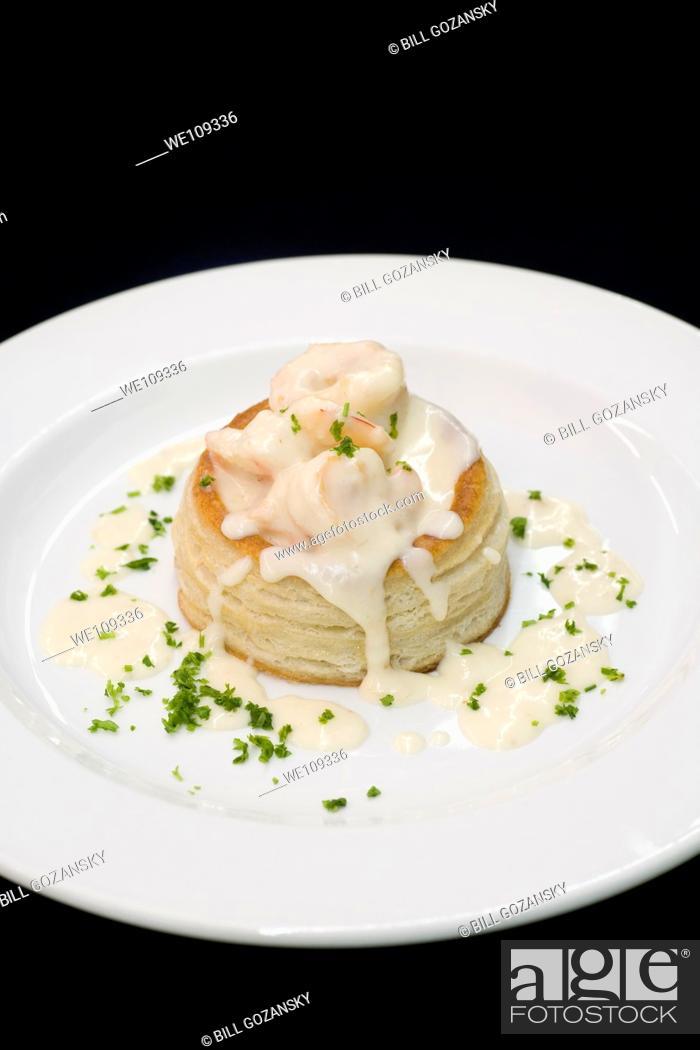Stock Photo: Shrimp and Puff Pastry Appetizer - Hemingways Resort - Watamu, Kenya.