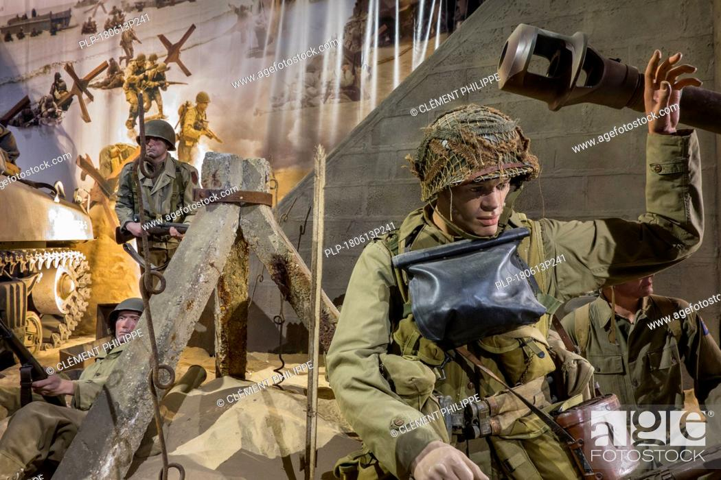 Diorama Showing Ww2 Us Soldiers Fighting At Omaha Beach In The Overlord Museum About Wwii D Day Stock Photo Picture And Rights Managed Image Pic Plp 180613p241 Agefotostock