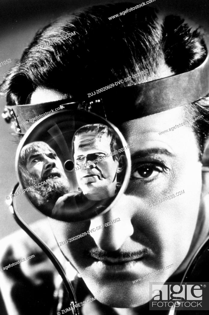 Stock Photo: 1939, Film Title: SON OF FRANKENSTEIN, Director: ROLAND V LEE, Studio: UNIV, Pictured: FRANKENSTEIN, BORIS KARLOFF, ROLAND V LEE, BELA LUGOSI.