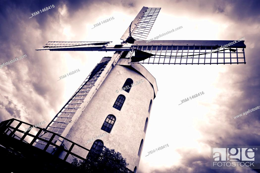 Stock Photo: Blennerville windmill  Blennerville, Tralee  County Kerry, Ireland.