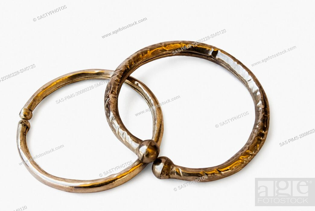 Stock Photo: Close-up of antique bangles.