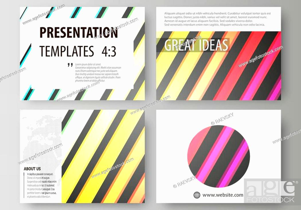 Vector: Set of business templates for presentation slides. Easy editable abstract layouts in flat design, vector illustration. Bright color rectangles.