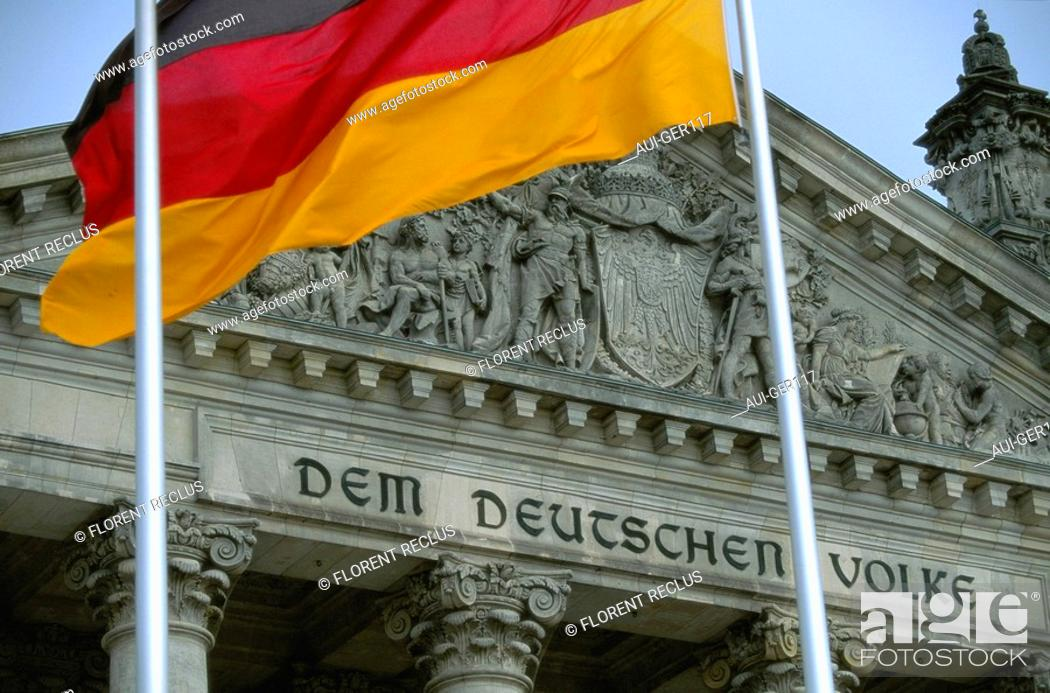 Stock Photo: Germany - Berlin - The Reichtag.