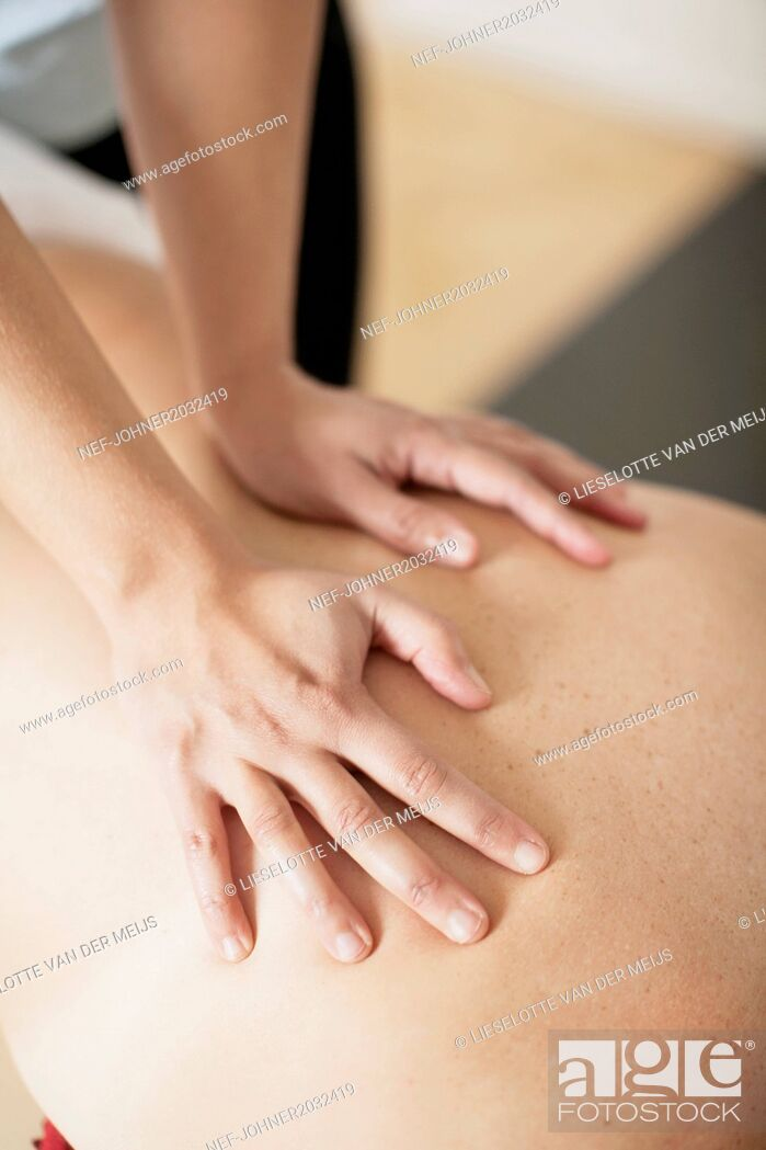 Stock Photo: Massage.