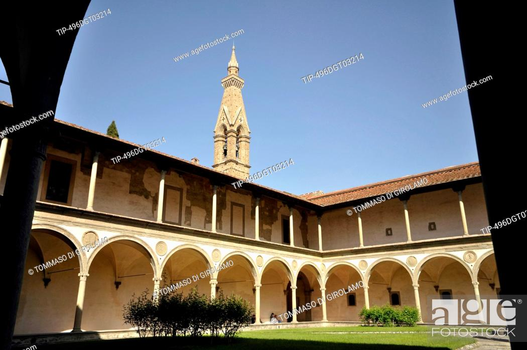 Stock Photo: Italy, Florence, St. Croce, cloister.