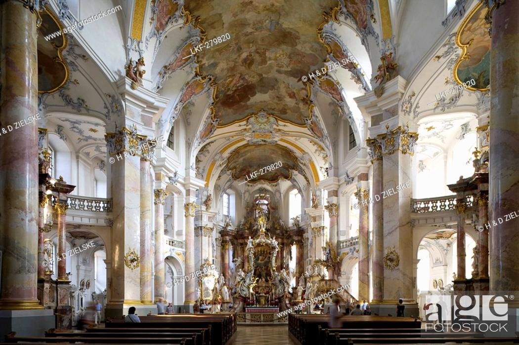Stock Photo: Altar in the pilgrimage church of the Fourteen Holy Saints, Wallfahrtskirche Vierzehnheiligen near Bad Staffelstein, Oberfranken, Bavaria, Germany, Europe.