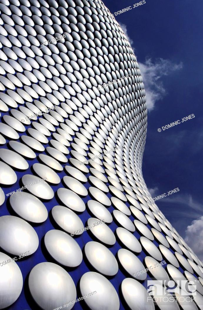 Stock Photo: Selfridge's Building, designed by Future Systems, Bullring, Birmingham, West Midlands, England.
