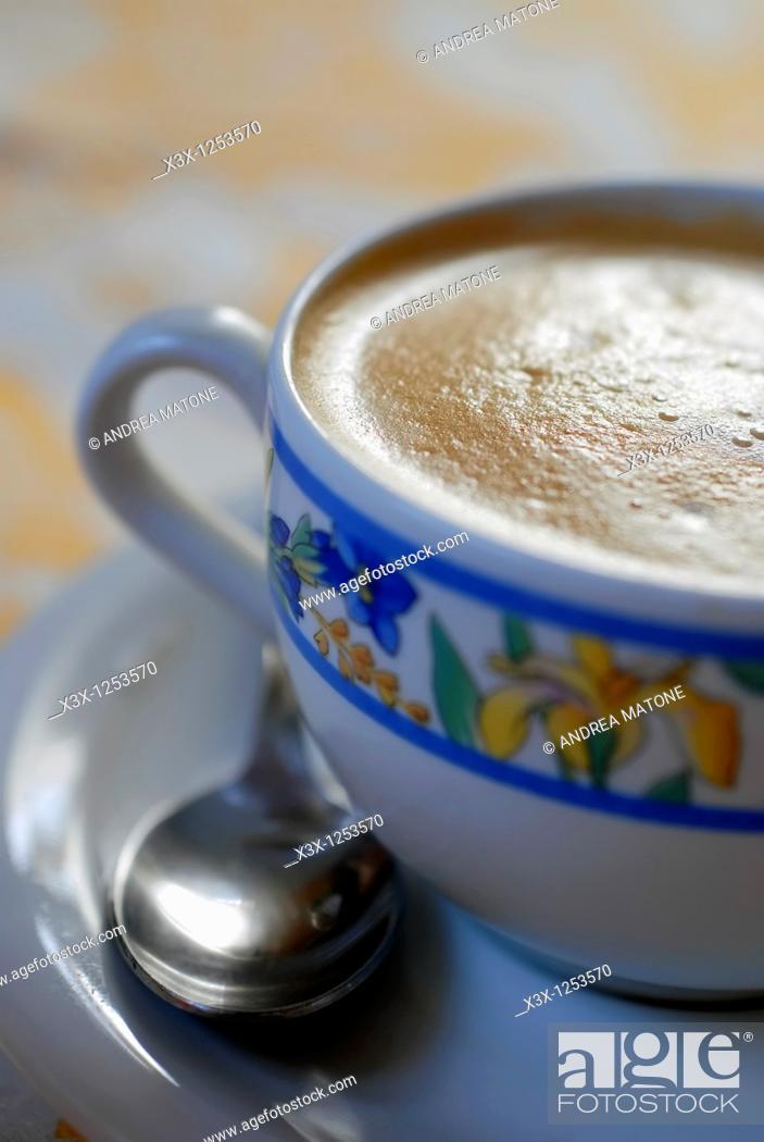 Stock Photo: An Italian cappuccino.