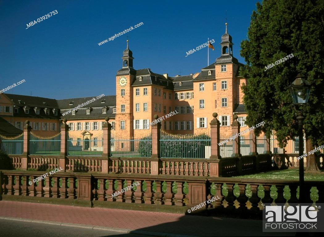 Stock Photo: Germany, Baden-Württemberg, Schwetzingen, palace, Rhine-Neckar-circle, city, sight, culture, construction, buildings, architecture, palace-buildings.