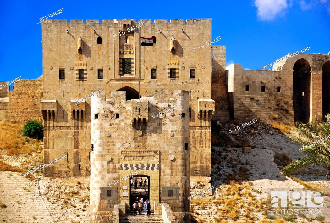 Stock Photo: Citadel of Aleppo, Syria.