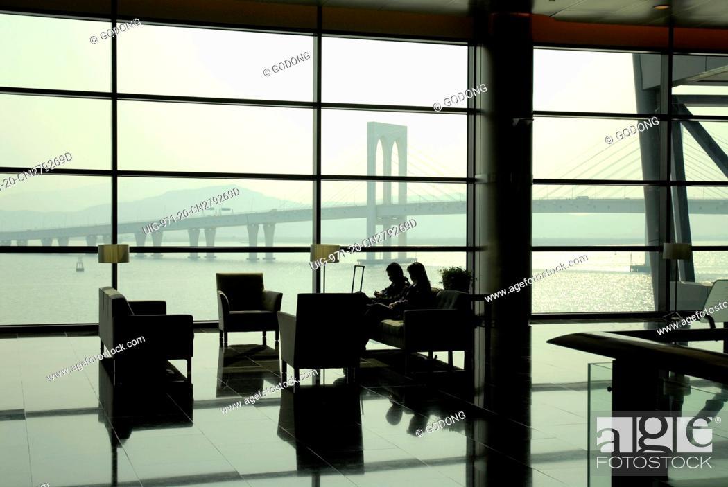 Stock Photo: Macao Tower. View over the Savai bridge, China.