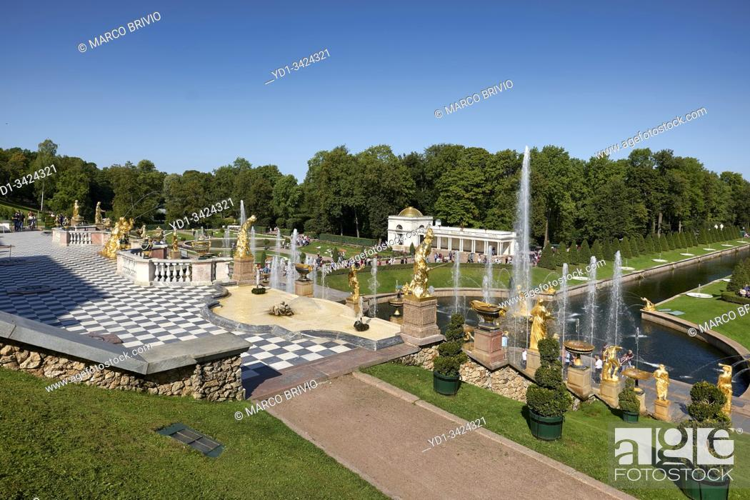 Stock Photo: St. Petersburg Russia. Peterhof Palace.
