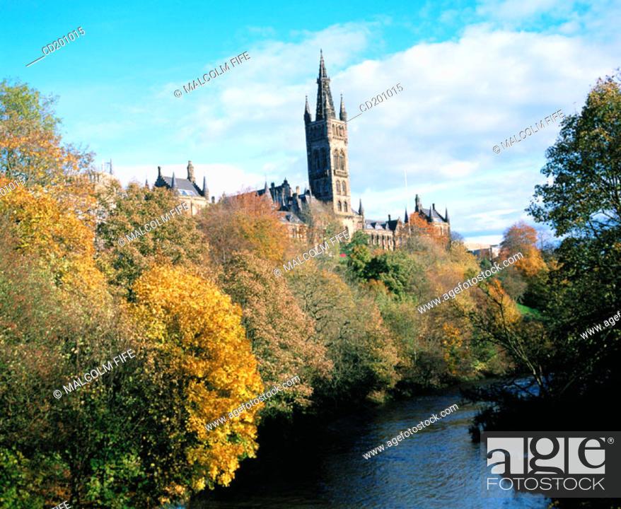 Stock Photo: Glasgow University. Kelvingrove. Glasgow. Scotland.
