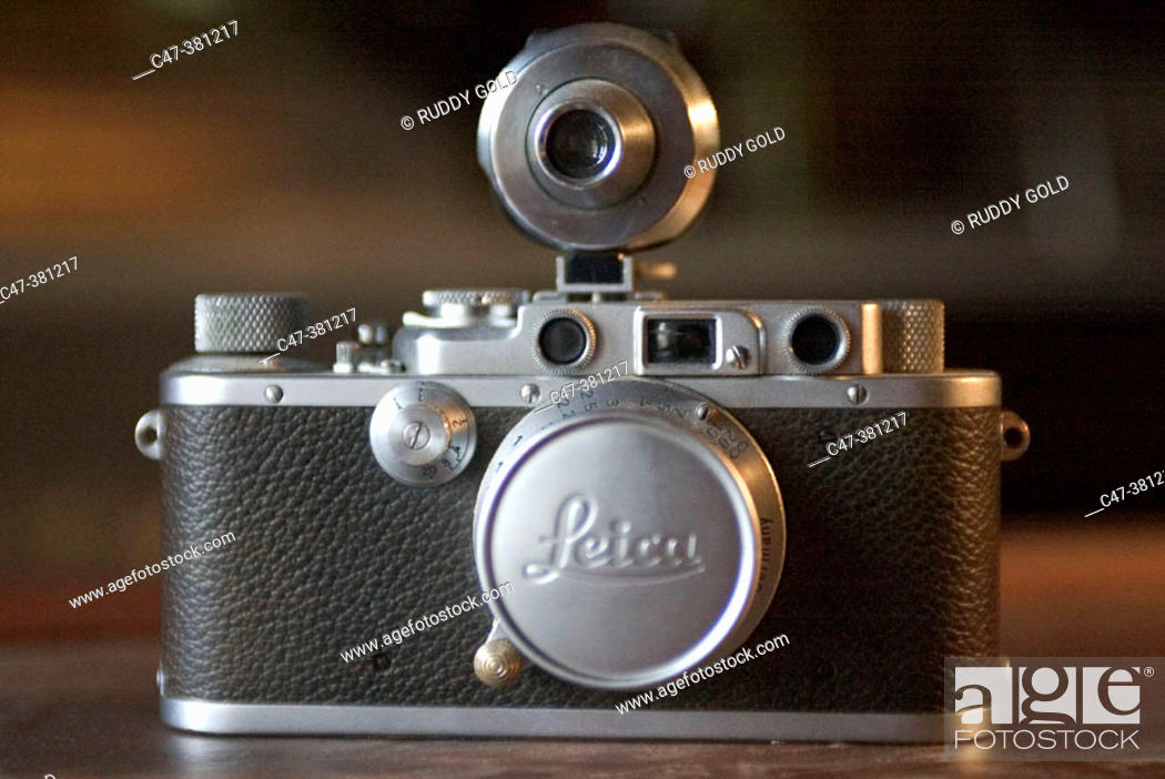 Stock Photo: Old Leica photo camera.