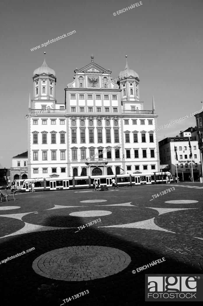 Stock Photo: Town Hall in Augsburg.