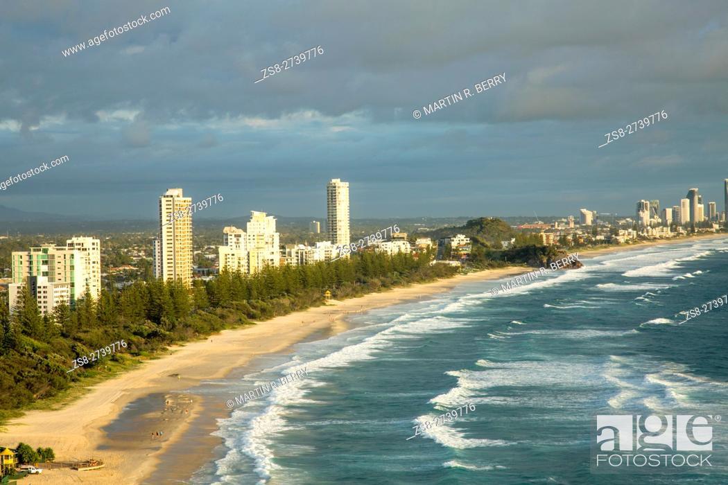 Stock Photo: Gold Coast Coastline, Queensland, Australia.
