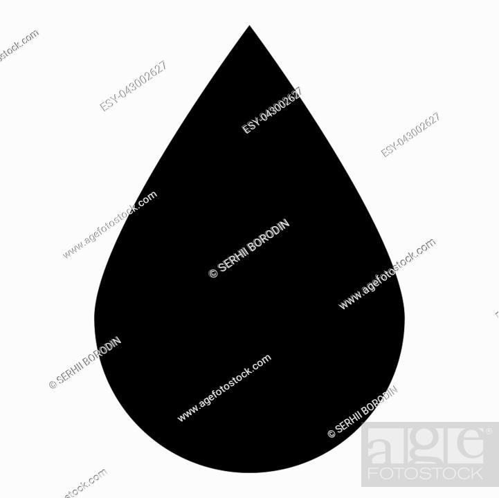 Stock Vector: Drop icon icon black color vector illustration isolated.