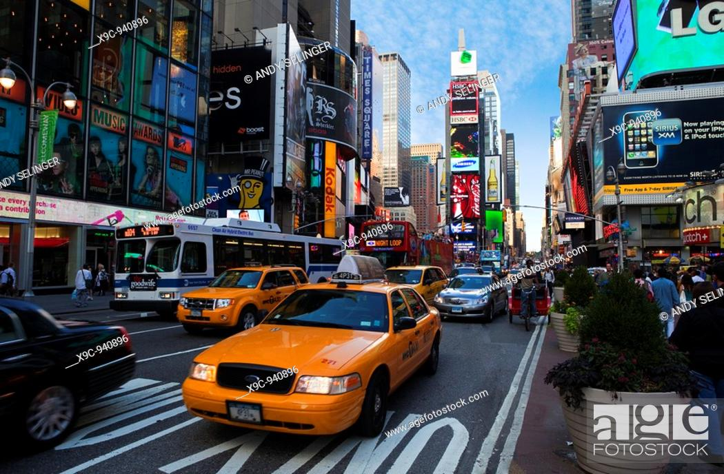 Stock Photo: Traffic in Times Square, New York.