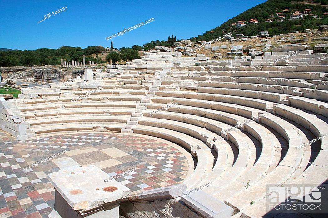 Stock Photo: Greece : Messini - amphitheatre.