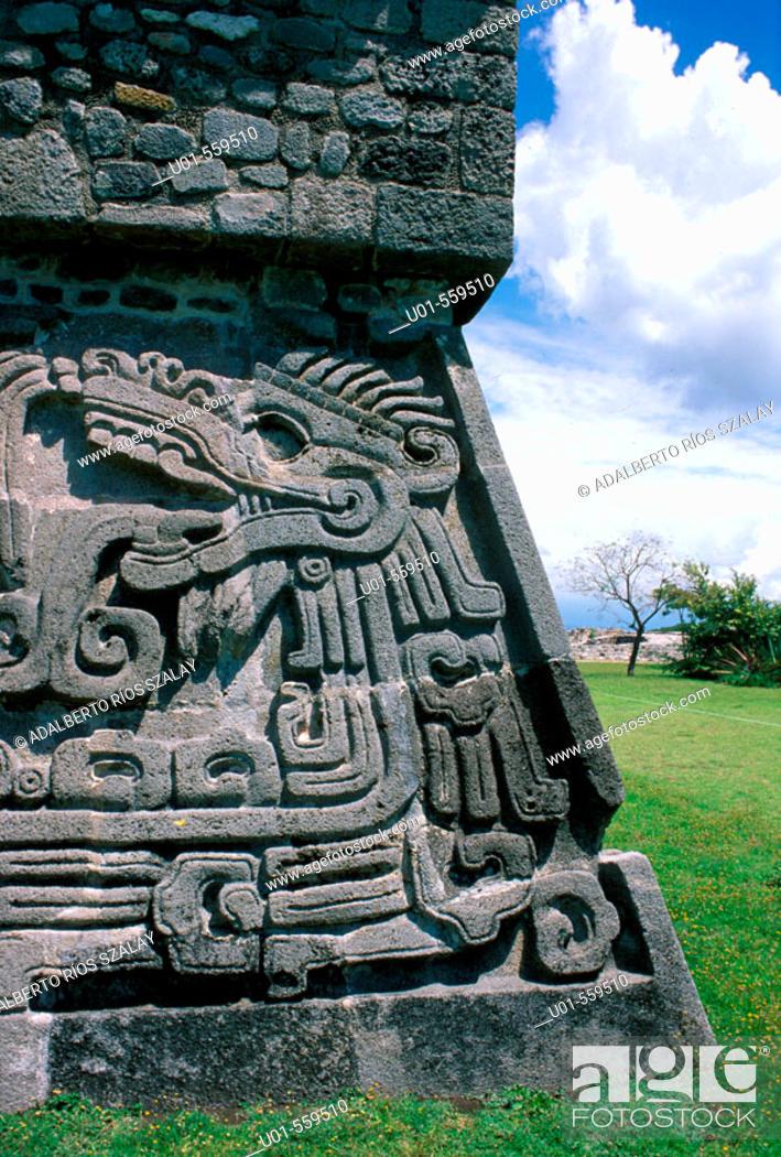Stock Photo: Archeological site. Xochicalco. Mexico.
