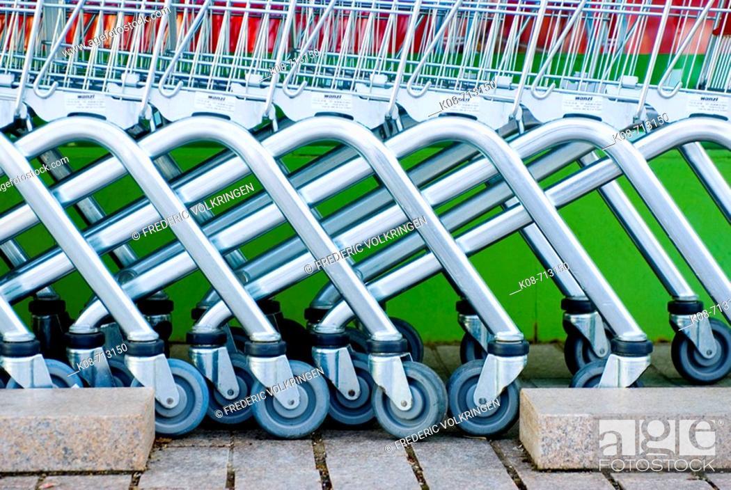 Stock Photo: Shopping carts.