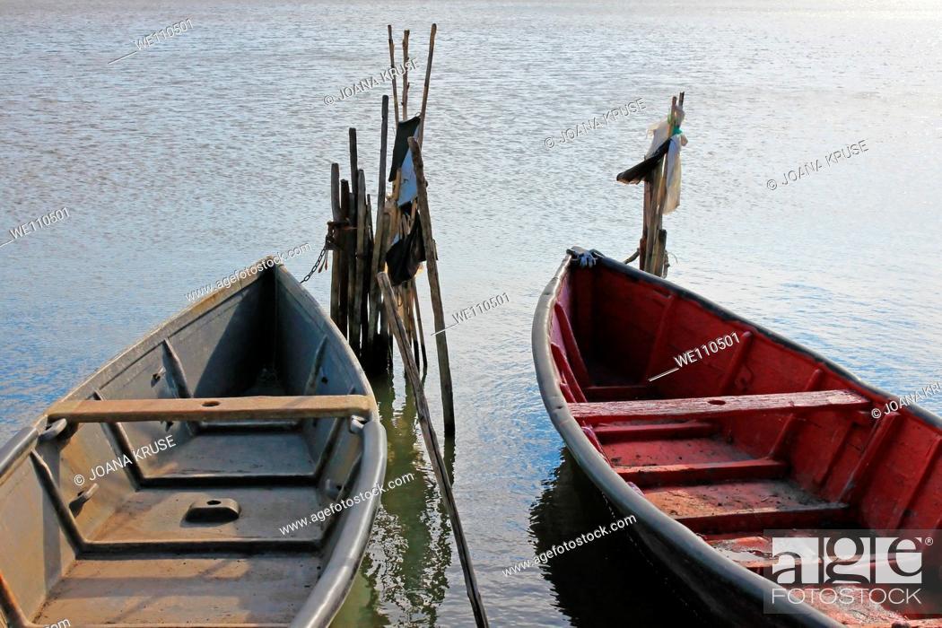Stock Photo: boats in Lesina, Apulia.