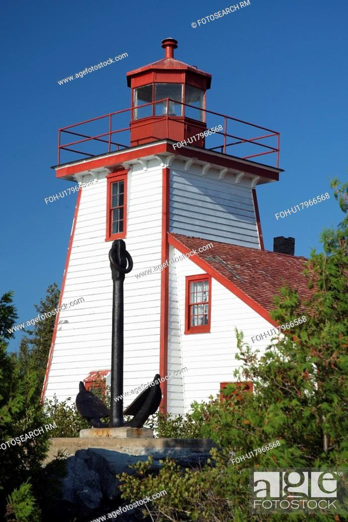 Stock Photo: lighthouse manitoulin island ontario canada.