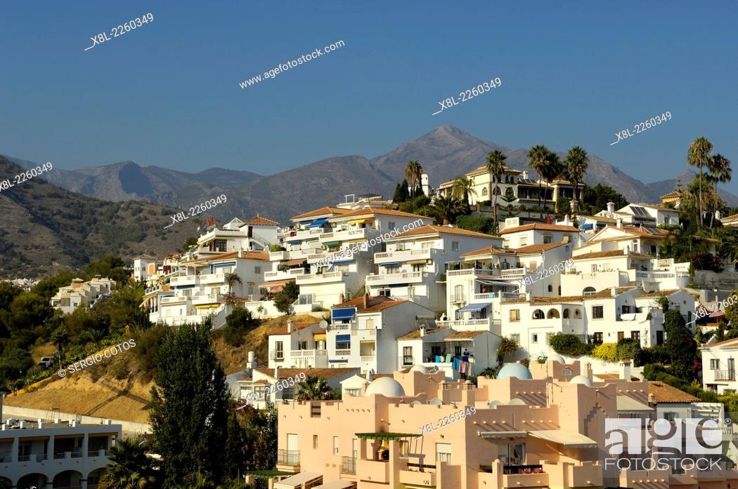 Stock Photo: Nerja, Burriana beach, Málaga, Andalucia, Spain.