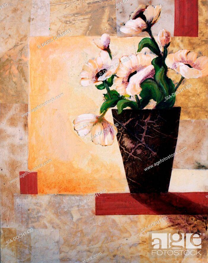 Imagen: Pink flowers in vase.