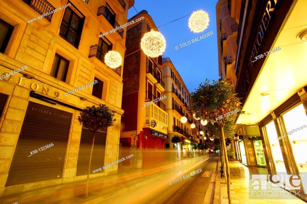Stock Photo: Modernist building in the street Colon Palma Mallorca Baleares Spain.