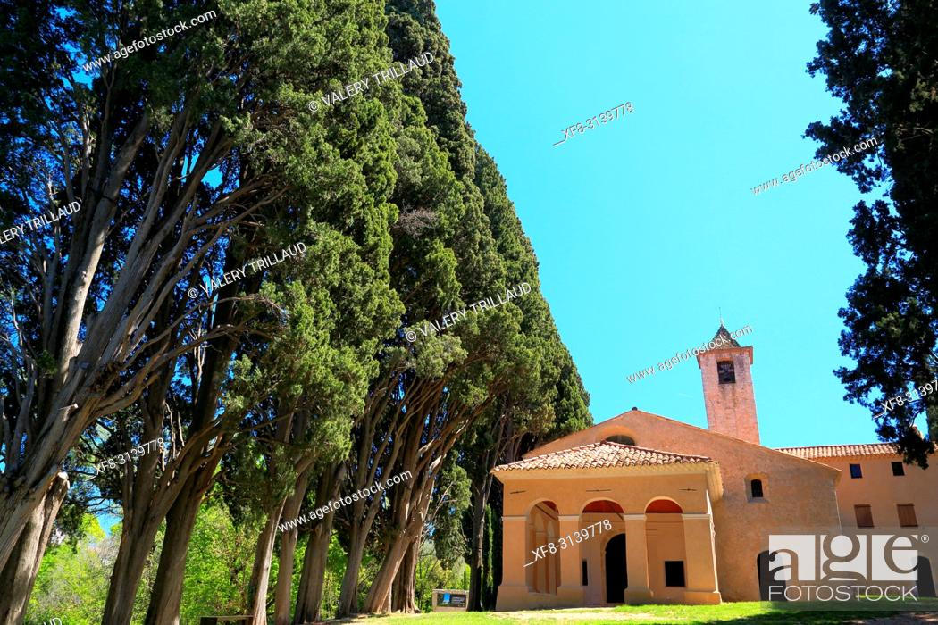 Stock Photo: Mougins, Notre Dame de vie, Alpes Maritimes, 06, PACA, France.
