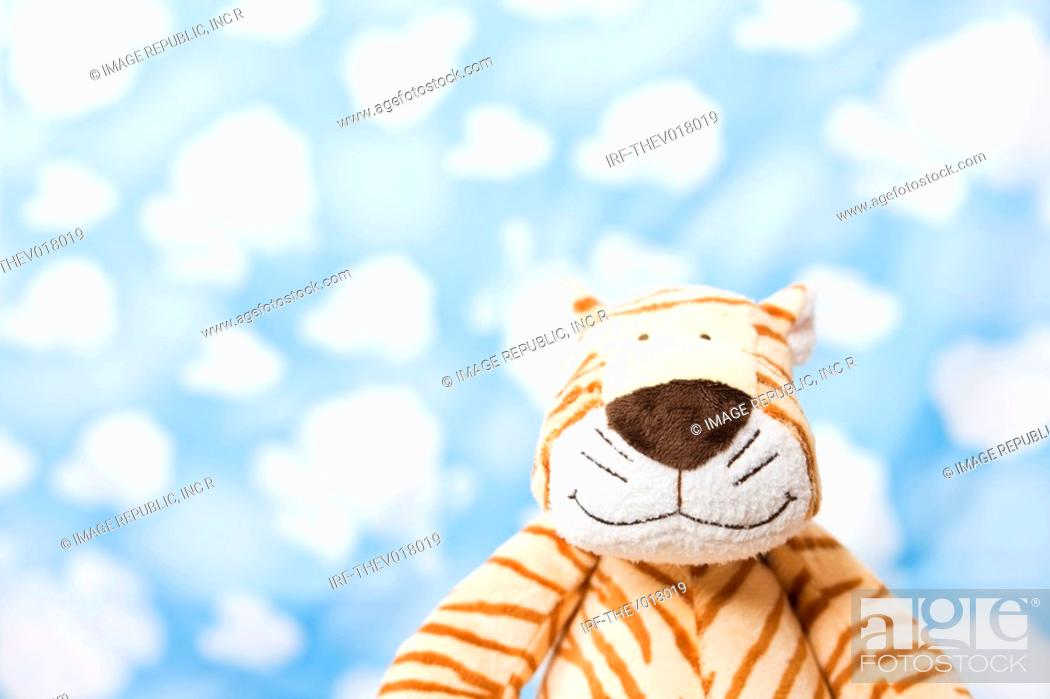 Stock Photo: wallpaper and animal shape, tiger.