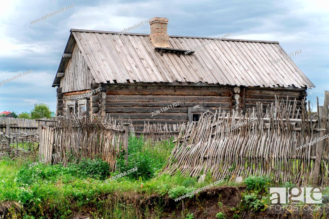 Stock Photo: The old traditional village in kazan region.