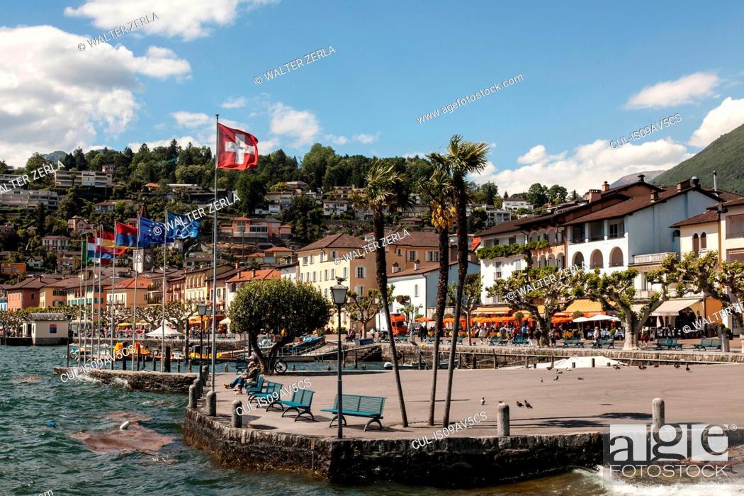 Stock Photo: Lake Maggiore, Ascona, Ticino, Switzerland.