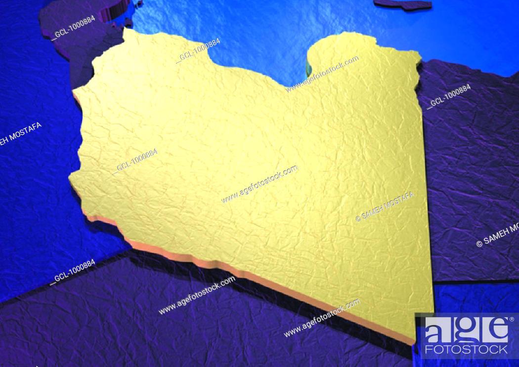 Stock Photo: map of Libya.