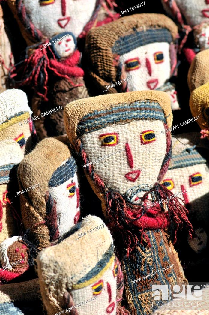 Stock Photo: Dolls. Tarabuco, Bolivian town in the department of Chuquisaca, capital of the Yamparáez Province and its first section, Tarabuco Municipality.