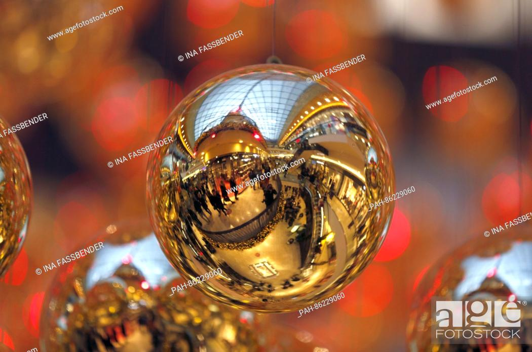 Christmas Ornaments At The Thier Galerie During Sunday Shopping In